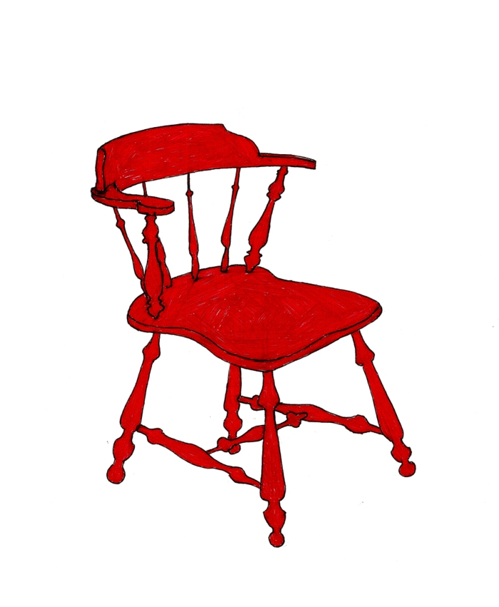 Red Chair drawing